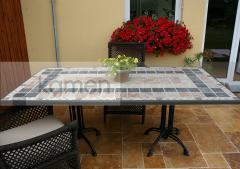 Realizace desky stolu z kamenné mozaiky