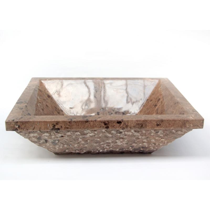 Kamenné umyvadlo hnìdý mramor